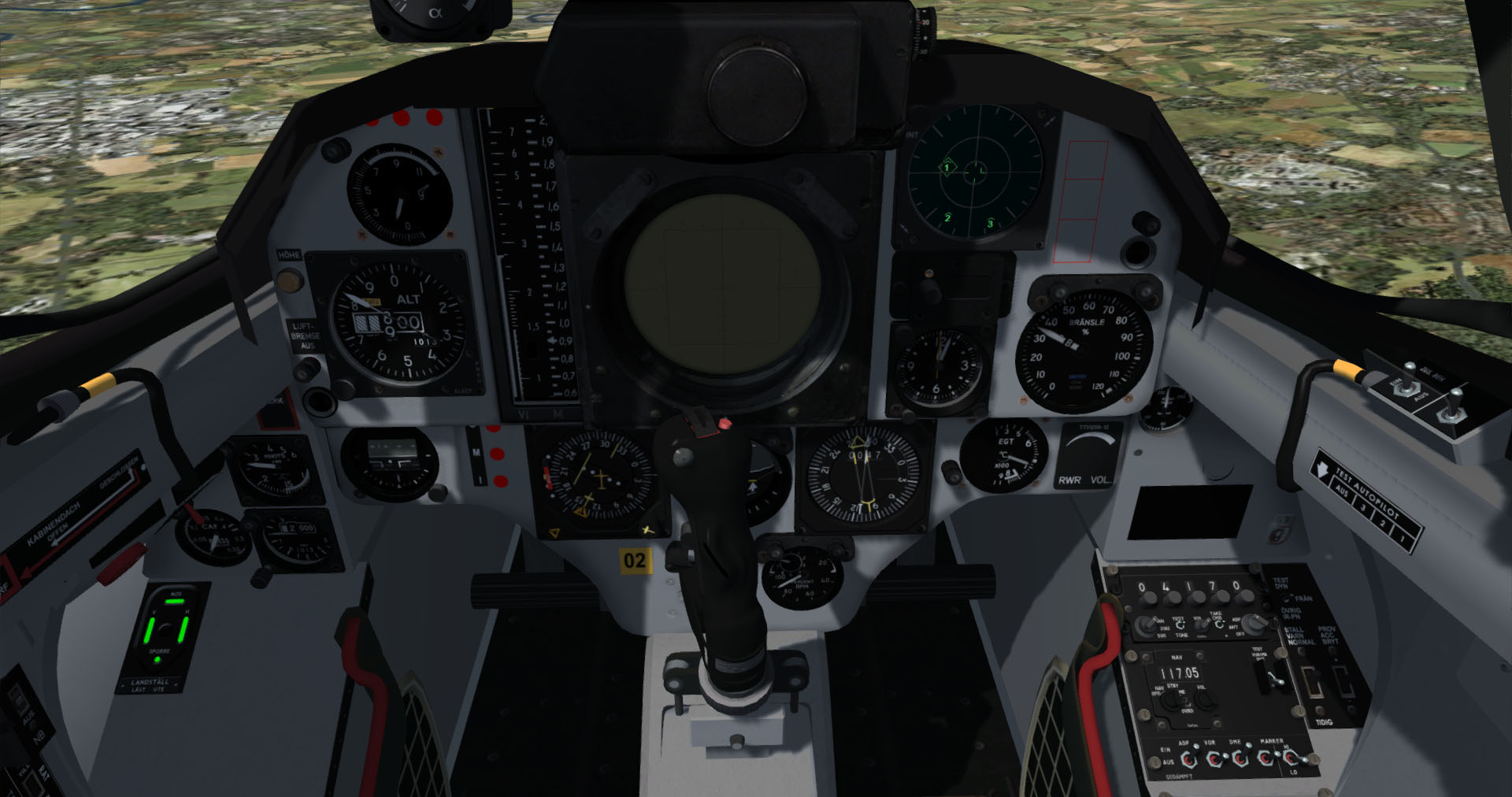 35OE cockpit