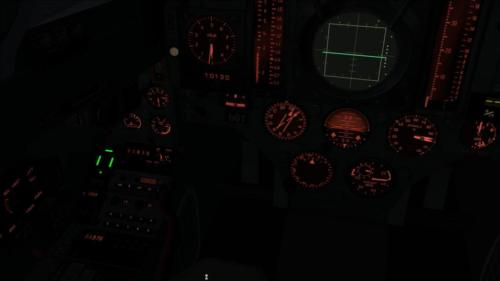 Virtual cockpit at night