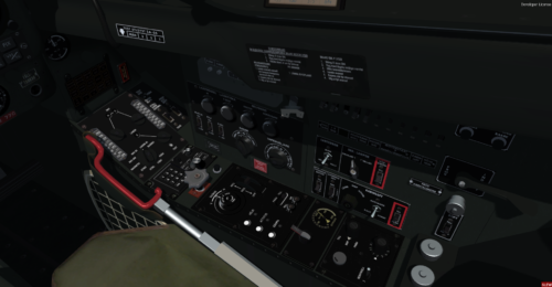 Right side console with autopilot and navigation panels